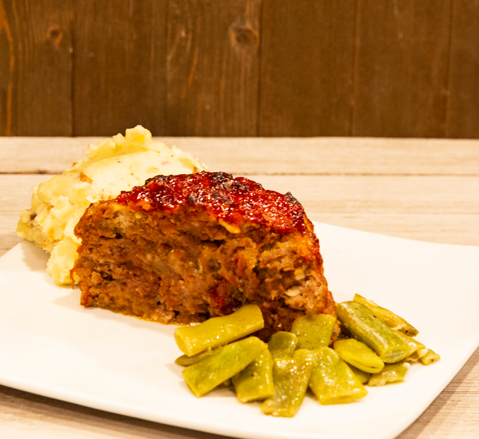 Garlic and Tomato Chutney Meatloaf with Spicy Tomato Bacon Jam
