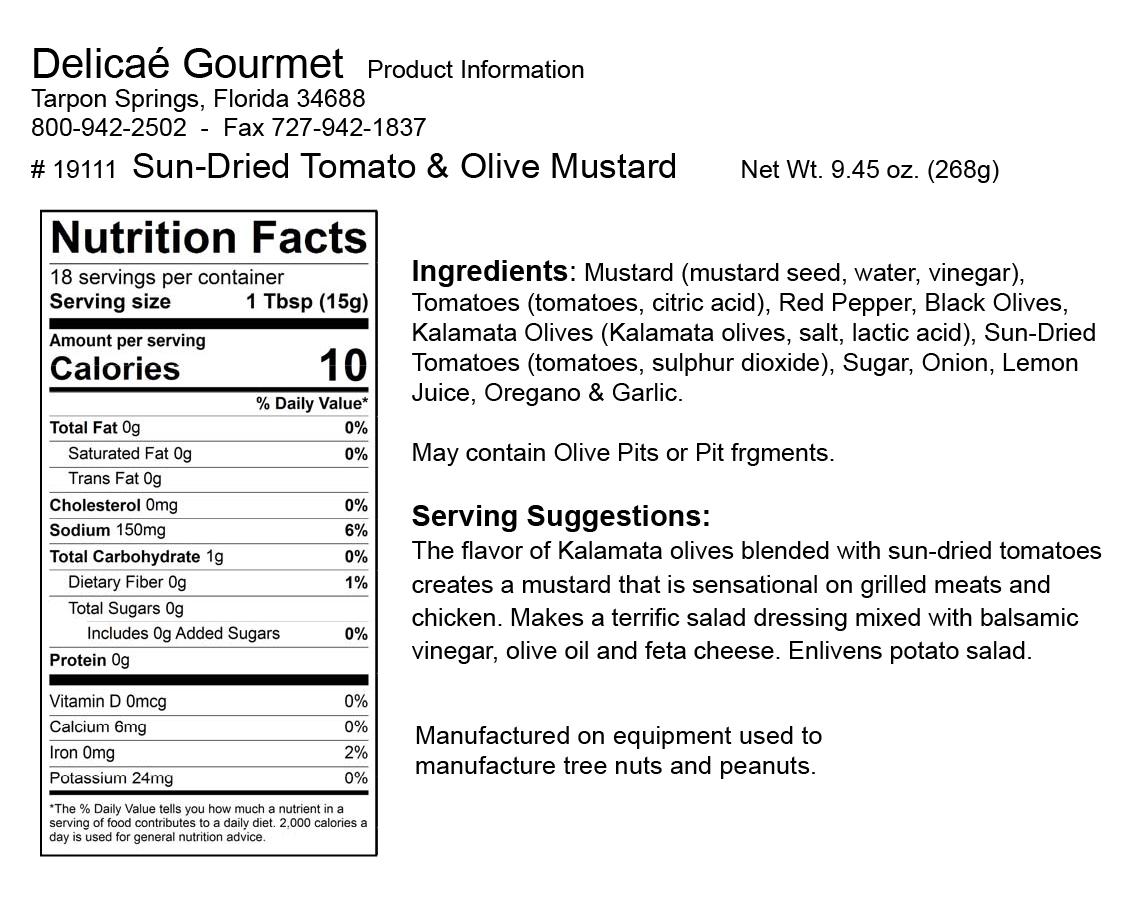 "Sun-Dried Tomato & Olive Mustard ""Gluten-Free"""