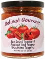 "Sun-Dried Tomato and Roasted Red Pepper Bruschetta Topping ""Gluten-Free"""