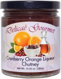 "Cranberry Orange Liqueur Chutney ""Gluten-Free"""