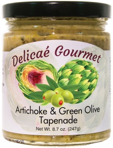 "Artichoke and Green Olive Tapenade ""Gluten-Free"""