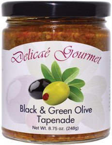 "Black and Green Olive Tapenade ""Gluten-Free"""
