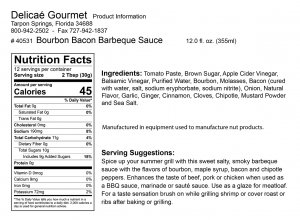 "Bourbon Bacon Barbecue Sauce ""Gluten-Free"""