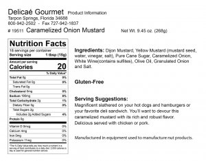"Caramelized Onion Mustard ""Gluten-Free"""