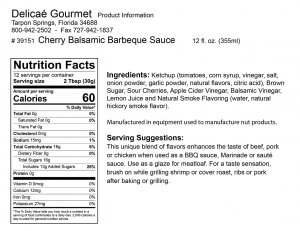 "Cherry Balsamic Barbecue Sauce ""Gluten-Free"""