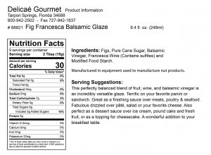 "Fig Francesca Balsamic Glaze ""Gluten-Free"""