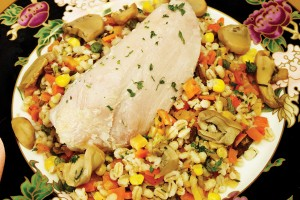 Homemade Turkey Barley Slow Cooker Dinner
