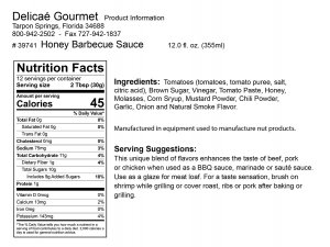 "Honey Barbecue Sauce ""Gluten-Free"""