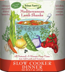 "Mediterranean Lamb Shanks Slow Cooker Dinner ""Gluten-Free"""