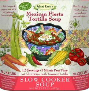 """Mexican Fiesta Tortilla Slow Cooker Soup """"Gluten-Free"""""""