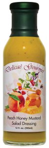"Peach Honey Mustard Salad Dressing ""Gluten-Free"""