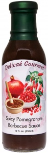 "Spicy Pomegranate Barbecue Sauce ""Gluten-Free"""