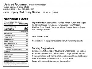 Spicy Red Curry Sauce