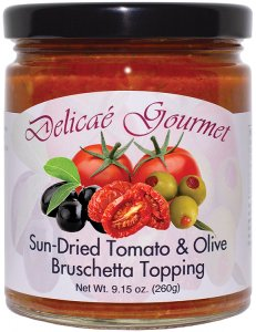 "Sun-Dried Tomato and Olive Bruschetta Topping ""Gluten-Free"""