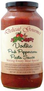 "Vodka Pink Peppercorn Pasta Sauce ""Gluten-Free"""